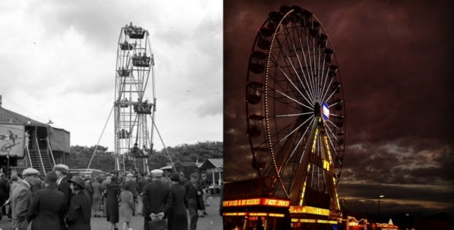 Hoppings Then and Now